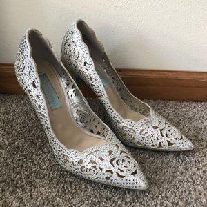 Betsey Johnson rhinestones heels